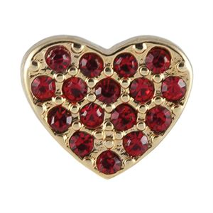 Picture of Crystal Red Heart Charm